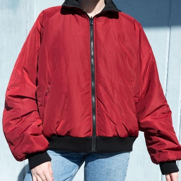 Brandy Melville black//white oversize reversible Faith puffer Jacket NWT sz S//M
